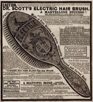 Электромагнетическая расческа доктора Скотта, 19-й век