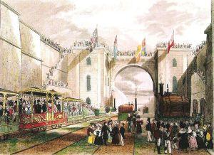 Окрытие железной дороги Ливерпуль-Манчестер